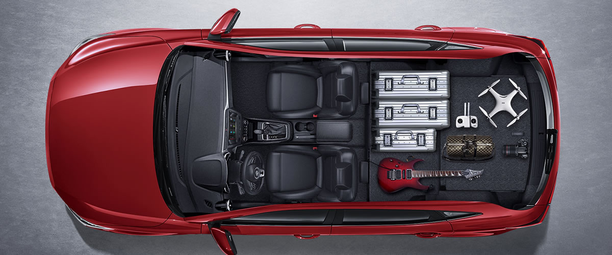 Superb boot space with foldable rear seats
