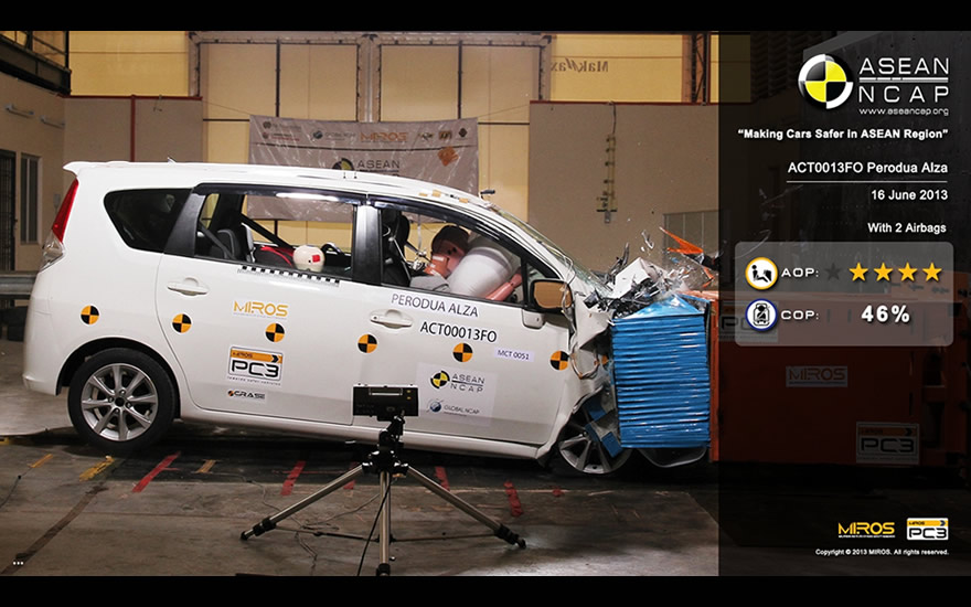 4-star NCAP crash test rating