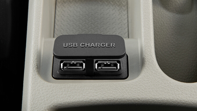 2 Rear USB Chargers